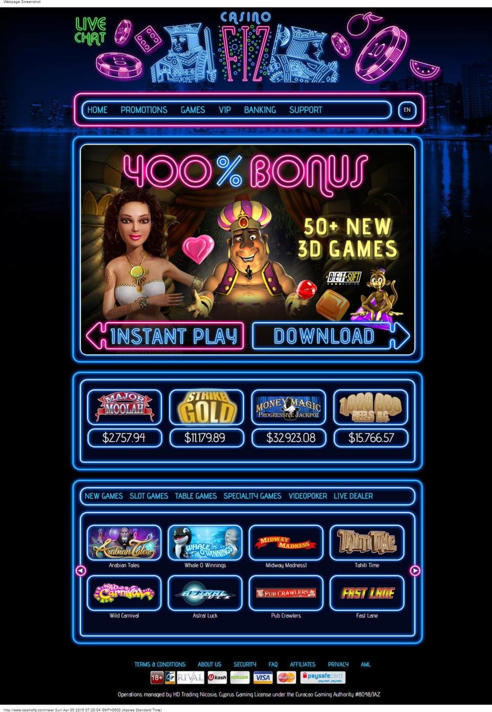 15 FREE SPINS at Gaming Club Casino
