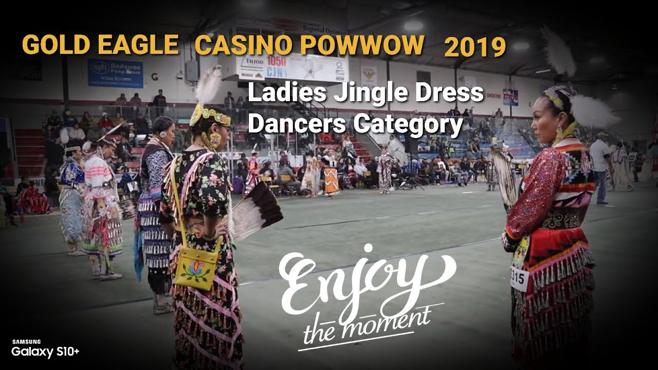 Gold Eagle Casino Powwow 2019 ENJOY the MOMENT!!!... Jr. Wmn Jingle Dress Saturday Whitefish Jr's