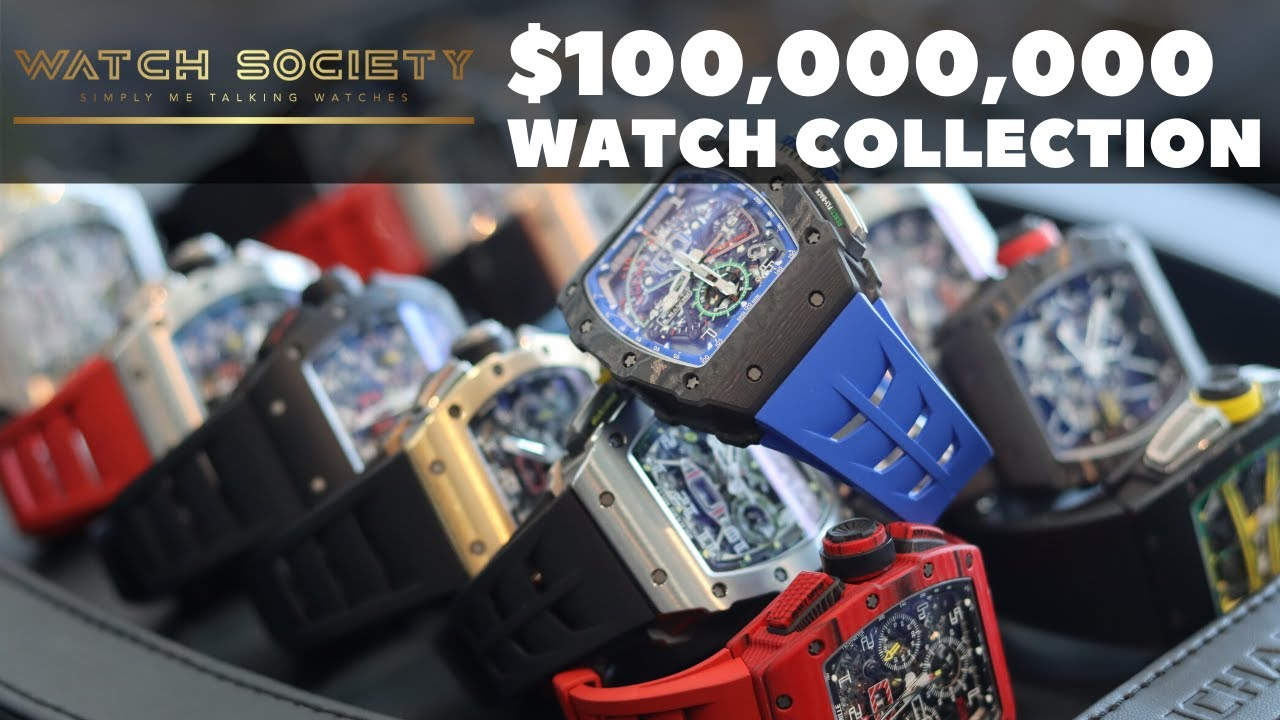 $100,000,000 WATCH COLLECTION! The rarest Richard Mille ever, one of one. Part 1 diamonds